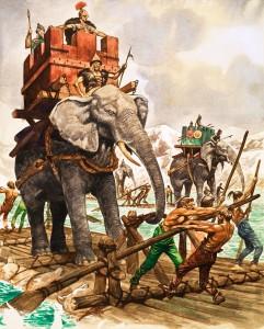 Hannibal och hans elefanter, bild: Peter Jackson