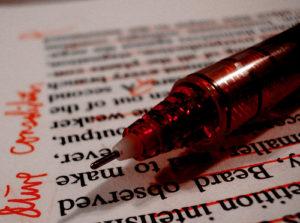 Rödpennor är inte nödvändiga.